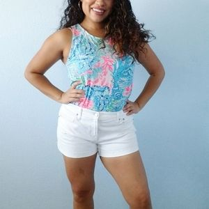 Lilly Pulitzer Kristin Top in Blue and Pink